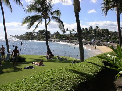 Poipu studio rental - This is your beach, just steps from the condo and the best snorkeling on island.