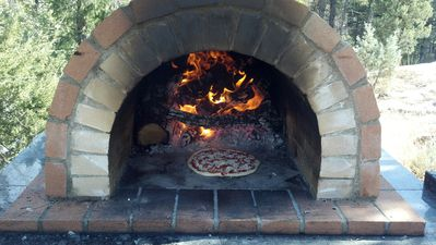 Payson cabin rental - Outdoor Wood Fired Pizza Oven Available for Use By Our Guests!