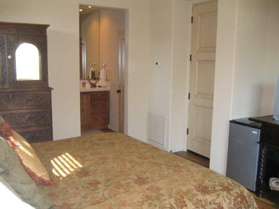 Separate casita with full bath, TV and refrige.