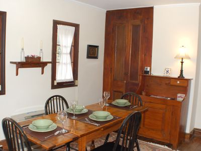 1st Floor Dining Room: Table seats four