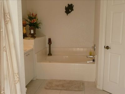 Relax in the Master Bathroom soaking tub