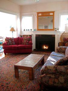 Enjoy the large front room for conversation, fellowship and cozy fun