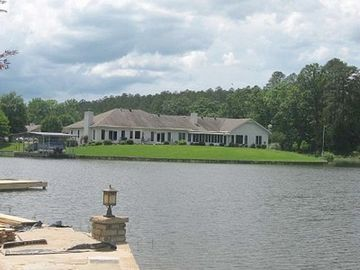 Hot Springs Village townhome rental - Lake View from Back of Home (end home on the right)