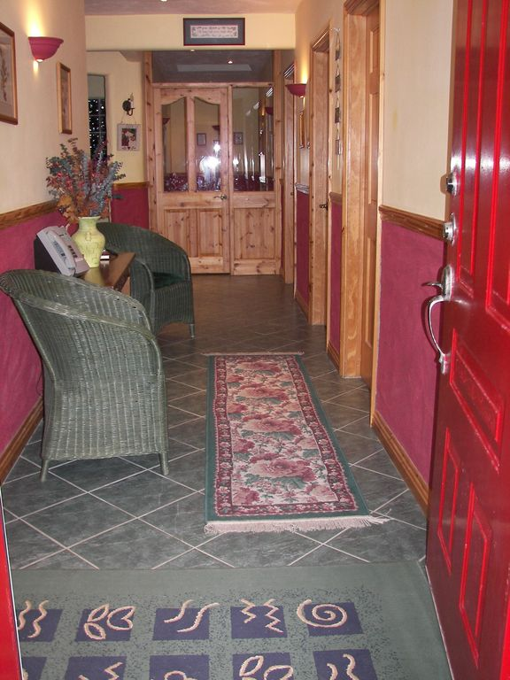 Wide hallways throughout the house