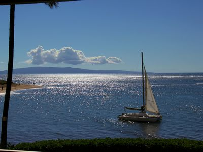 the beautiful  island and ocean view from your lanai,