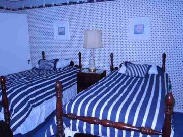 Nautical Bedroom (2) This bedroom contains two single beds.