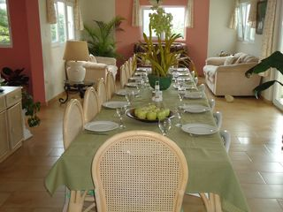 Playa Cofresi villa photo - Dining for up to 16 people inside