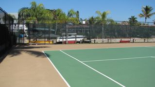 Sanibel Island condo photo - tennis courts (2) backing on to canal