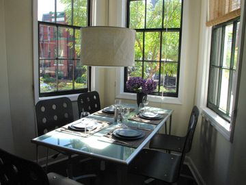 Dining Nook in Bay Window