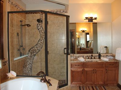 Maser Bathroom with Jetted Tub, Shower and Master Closet