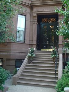 Stooped brownstone entrance