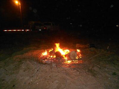 Crystal Beach cabin rental - Bonfire on the beach is GREAT FUN for the entire family. Get the SMORES out!