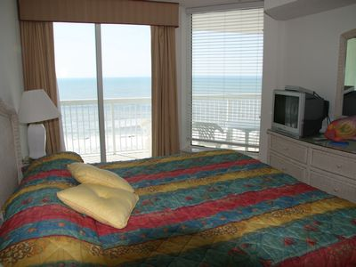 Master bedroom with ocean in the background