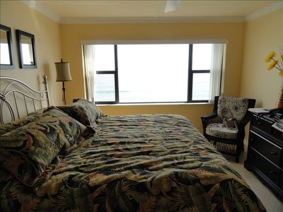 Master Bedroom with new picture window with great view of ocean