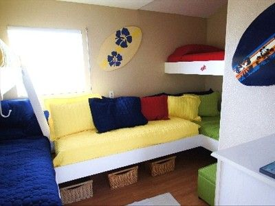 the bunk room sleeps 6 comfortably