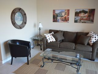 "Ormond Beach condo photo - Living Room with Sealy sleeper sofa. 42"" TV."