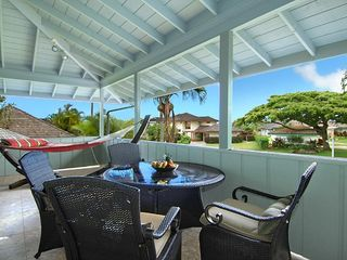 Poipu house photo - front covered lanai