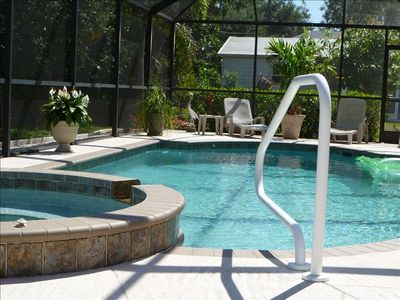 Private screened,heated pool and spa waiting for your vacation.