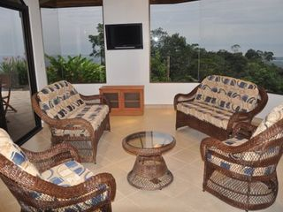 Ojochal villa photo - The living area with panoramic windows