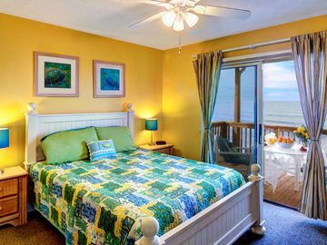 Second beachside master bedroom with separate access to the oceanfront balcony
