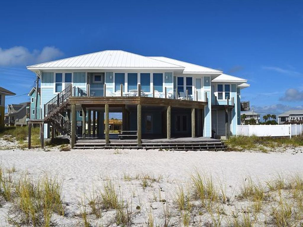 amazing beach house on gulf pensacola beach front  pool great, Beach House/