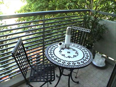 Breakfast Table on 5th Floor Balcony