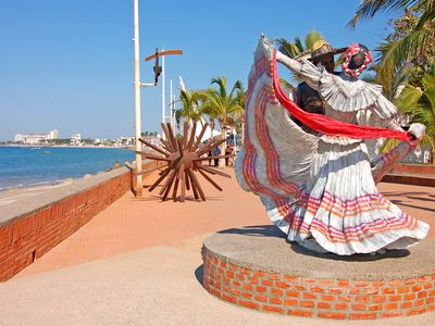 Puerto Vallarta condo rental - Wonderful Works Of Art Are Seen Up And Down The New Malecon.