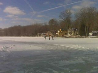 Saugatuck / Douglas house photo - Winter - Some years the condtions call for ice skating!