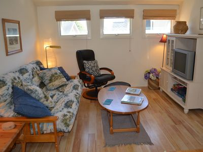 Santa Cruz apartment rental - TV, VCR/DVD, video/DVD and book library, collection of games and cards. Relax!