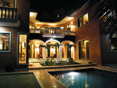 Night View of Front of the House