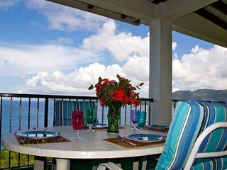 Water Island house photo - Romantic outdoor dining!