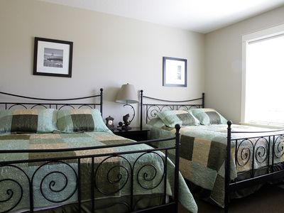 Lincoln City house rental - Bedroom with two Queen Beds