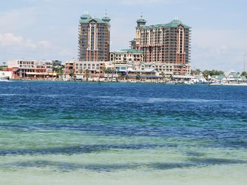 Harborwalk Entertainment complex on the Destin Harbor.