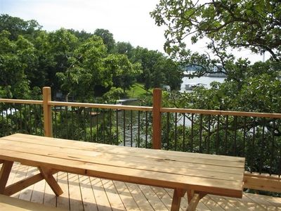 Lake Ozark house rental - Deck - Lake View is a little restricted from this angle.