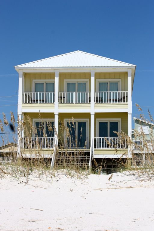 6 Br 5 Bath Directly On The Gulf Beach House Vrbo
