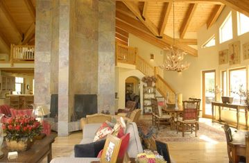 Great room with 4 sided fireplace