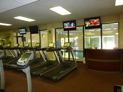 fitness, heated pool+hot tub $25 week