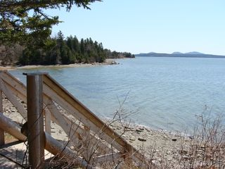 Trenton cabin photo - View of Mount Desert Island from the top of our beach stairs.