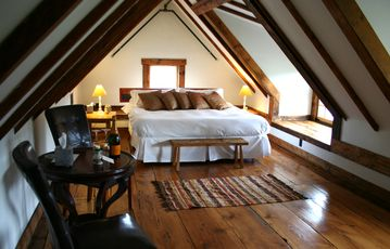 Room 16 (Goodrich): Deluxe post-and-beam king suite located on the 3rd floor.