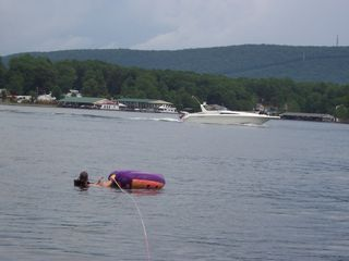 Huddleston house photo - tubing and boating in the main channel right outside of our cove!