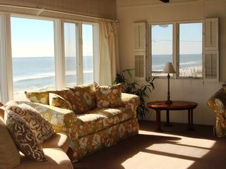 Brant Beach house photo - Beautiful view of the ocean from living room.