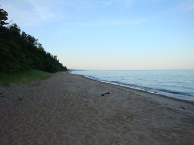 Private Lake Michigan beach