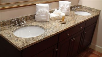 Marble Counter tops in kitchen