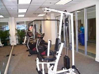 Work out room with ocean view.