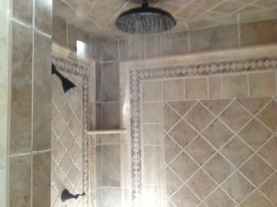 Rain shower in master bath