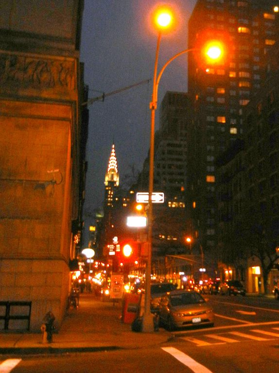 The iconic Chrysler Building. Photo taken on our bock of East 30th Street