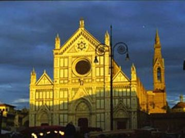 Iconic Santa Croce Cathedral in the adjoining piazza.