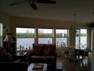 Hutchinson Island house photo - water view from family room/kitchen...it is not dark inside, just sunny outside!