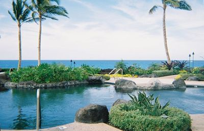 Swim in the three tier pool at the ocean's edge.