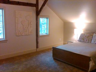 Patterson farmhouse photo - 2nd Master Bedroom - Exposed beams, nature views